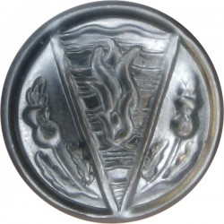 Devon Fire Brigade - Auxilio Divino 16.5mm - Post-1974 Chrome-plated Fire Service uniform button