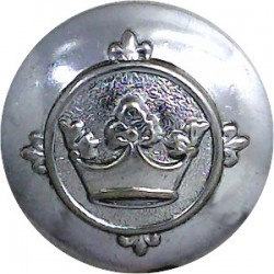 Cambridgeshire Fire Brigade 23.5mm - 1948-1974 Chrome-plated Fire Service uniform button