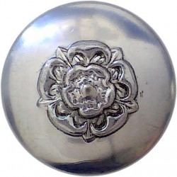 Civil Defence Corps Button (Crown Over CD) 17.5mm - Black with King's Crown. Plastic Civilian uniform button