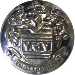 Eastbourne Fire Brigade - Meliora Sequimur 25mm - Pre-1974  Chrome-plated Fire Service uniform button