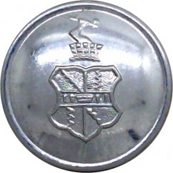 Birmingham Airport Police 24mm - 1970-1974  Chrome-plated Police or Prisons uniform button