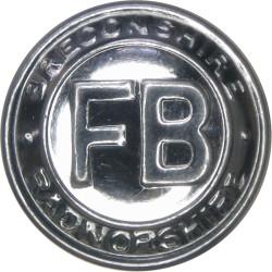 Breconshire & Radnorshire Fire Brigade 24mm - 1948-1974  Chrome-plated Fire Service uniform button