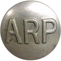 ARP (Air Raid Precautions) Button 23.5mm  White Metal Civilian uniform button