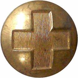 British Red Cross Society (Cross Only) 24.5mm  Brass Civilian uniform button