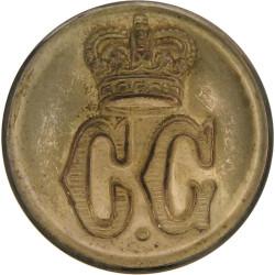 Coast Guard - Plain Rim 24mm with Queen Elizabeth's Crown. Gilt Civilian uniform button