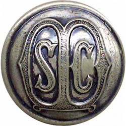 State Certified Midwives 25.5mm - Domed  White Metal Civilian uniform button