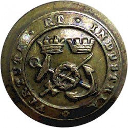 Corps Of Commissionaires - Virtute Et Industria 23mm  Brass Civilian uniform button