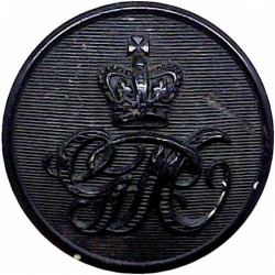 Civil Defence Corps Button  (Crown Over CD) 24mm with King's Crown. Chrome-plated Civilian uniform button