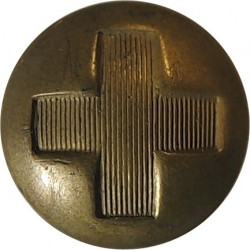 British Red Cross Society (with Wording) 16mm - Black  Horn Civilian uniform button
