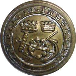 General Post Office (GPO Linked Script Letters) 22.5mm - 1902-1952 with King's Crown. Horn Civilian uniform button