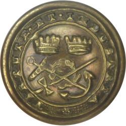 Corps Of Commissionaires - Virtute Et Industria 17mm  Brass Civilian uniform button