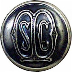 State Certified Midwives 14mm - Domed  White Metal Civilian uniform button