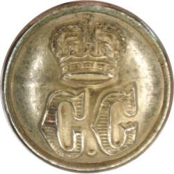 Coast Guard - Plain Rim 17.5mm with Queen Elizabeth's Crown. Gilt Civilian uniform button