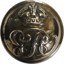 Royal Household Levee Dress 22mm Mounted Dome with King's Crown. Gilt Civilian uniform button