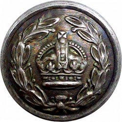 County Deputy Lieutenant's Button (Crown In Wreath) 23.5mm with King's Crown. Silver-plated Civilian uniform button