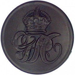 Leeds General Hospital Management Committee 27.5mm - Black  Horn Civilian uniform button