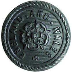 St John Ambulance Brigade 17mm - Black Plastic Civilian uniform button