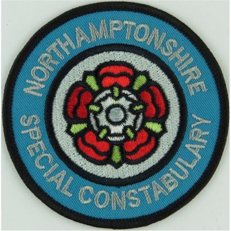 Northamptonshire Special Constabulary Circular Badge: Rose  Embroidered UK Police or Prison insignia