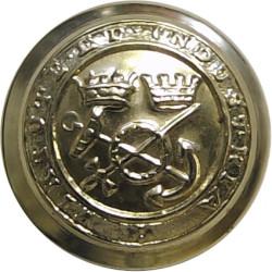 Corps Of Commissionaires - Virtute Et Industria 17.5mm  Anodised Civilian uniform button