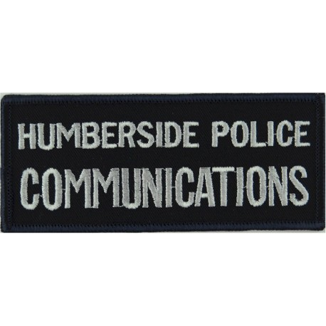 Humberside Police Communications Words On Rectangle  Embroidered UK Police or Prison insignia