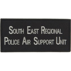 South East Regional Police Air Support Unit Words On Rectangle  Embroidered UK Police or Prison insignia