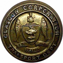 Exeter Corporation Transport 25.5mm  Chrome-plated Transport uniform button
