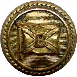Booth Steamship Company - Shipping Button - Roped 19.5mm  Gilt Merchant Navy or Shipping uniform button