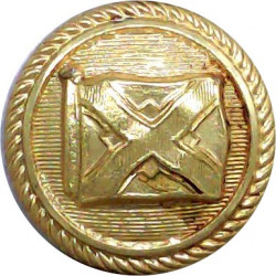 Union Castle Line - Shipping Button - Roped Rim 21mm - Lined  Gilt Merchant Navy or Shipping uniform button