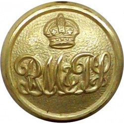 Royal Automobile Club 24mm Queen's Crown. Chrome-plated Transport uniform button