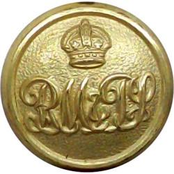 Royal Automobile Club 24mm with Queen Elizabeth's Crown. Chrome-plated Transport uniform button