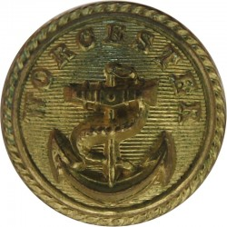 Canadian Pacific Line - Shipping Button - Roped Rim 19mm  Gilt Merchant Navy or Shipping uniform button
