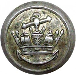 Anchor Line - Shipping Button - Roped Rim 20mm - Cabin Staff Silver-plated Merchant Navy or Shipping uniform button