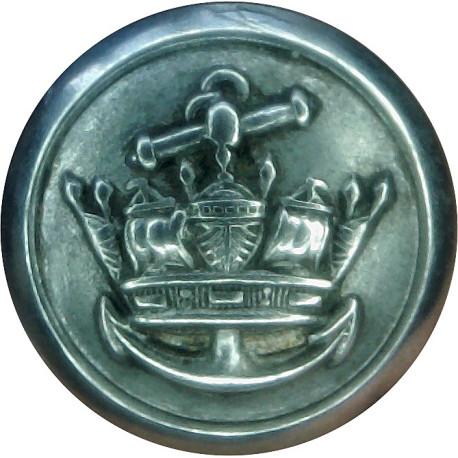 Merchant Navy (Plain Rim) 19.5mm  Silver-plated Merchant Navy or Shipping uniform button