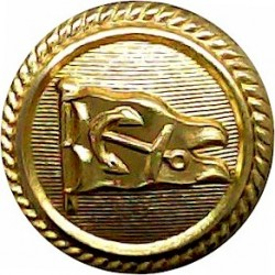 Anchor Line - Shipping Button - Roped Rim 17mm - Officers  Gilt Merchant Navy or Shipping uniform button