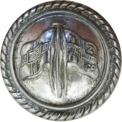 New Zealand & Federal Steam Navigation Co - Roped 16.5mm - Cabin Staff  Silver-plated Merchant Navy or Shipping uniform button