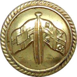 New Zealand & Federal Steam Navigation Co - Roped 23.5mm - Officers  Gilt Merchant Navy or Shipping uniform button