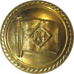 Alfred Holt Blue Funnel Line - Shipping Button 16.5mm - Roped Rim  Gilt Merchant Navy or Shipping uniform button