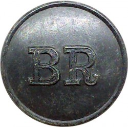 Newcastle-Upon-Tyne Corporation Transport 17mm Chrome-plated Transport uniform button
