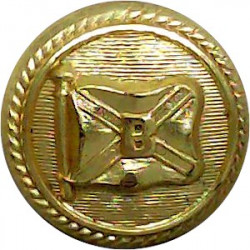 Booth Steamship Company - Shipping Button - Roped 17mm  Gilt Merchant Navy or Shipping uniform button