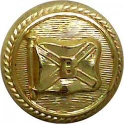 HMS Worcester (Thames Nautical Training College) 18mm - Roped Rim Gilt Merchant Navy or Shipping uniform button