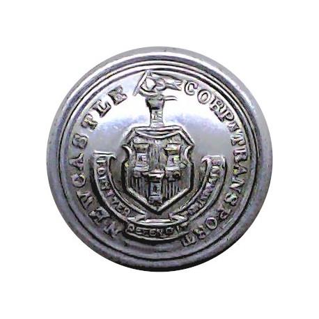 Newcastle-Upon-Tyne Corporation Transport 17mm  Chrome-plated Transport uniform button