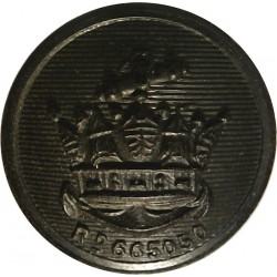 Merchant Navy (Plain Rim) 16.5mm - Black  Horn Merchant Navy or Shipping uniform button