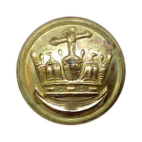 Merchant Navy (Plain Rim) 19.5mm  Gilt Merchant Navy or Shipping uniform button