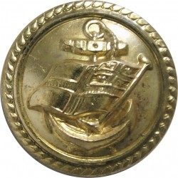 British Transport Docks Board - Roped Rim 18mm  Gilt Merchant Navy or Shipping uniform button
