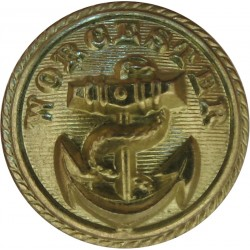 P&O (Peninsular & Oriental) Shipping Button - Roped 23mm - Unlined Gilt Merchant Navy or Shipping uniform button