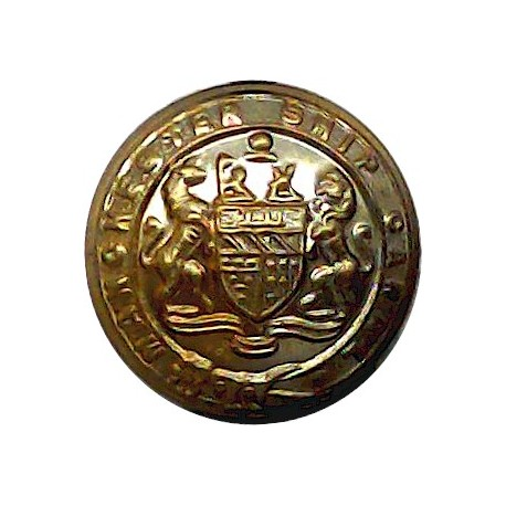 British India Steam Navigation Company - Roped Rim 15mm - Unlined Gilt Merchant Navy or Shipping uniform button