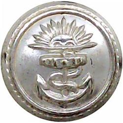 P&O (Peninsular & Oriental) Shipping Button - Roped 17mm  Silver-plated Merchant Navy or Shipping uniform button