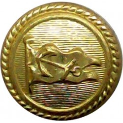 Anchor Line - Shipping Button - Roped Rim 15.5mm - Officers  Gilt Merchant Navy or Shipping uniform button