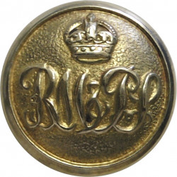 Isle Of Man Steam Packet Company - Shipping Button 16.5mm - Roped Rim Queen Victoria's Crown. Gilt Merchant Navy or Shipping uni