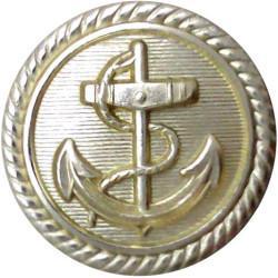 Cunard Line - Shipping Button - Roped Rim 13.5mm Queen Victoria's Crown. Gilt Merchant Navy or Shipping uniform button